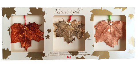Maple Leaf Ornaments - Trio Pack - Ornaments - The Cuckoo's Nest