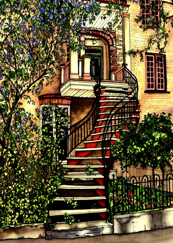 Montreal Staircase Series - #95 - Canadian Art - The Cuckoo's Nest