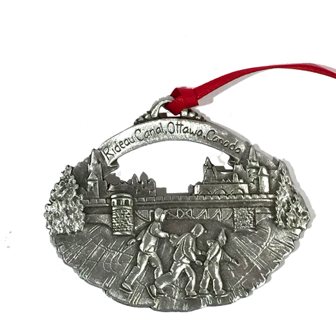 Rideau Canal Skateway Pewter Ornament - Ornaments - The Cuckoo's Nest - 1