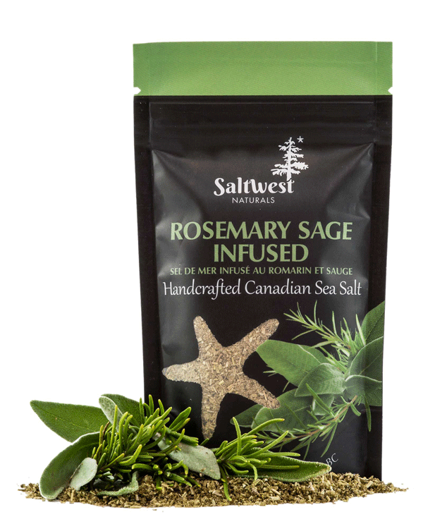 Organic Rosemary Sage Infused Sea Salt