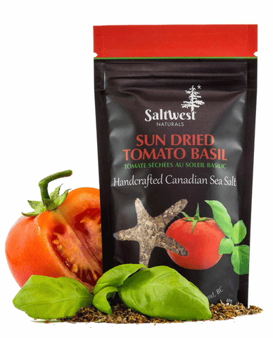 Organic Sun Dried Tomato Basil Sea Salt
