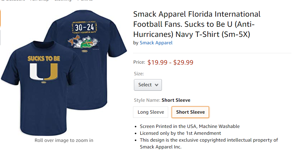 FIU Anti-Miami Shirt