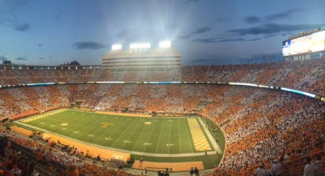At UT's Neyland Stadium, there is orange. And there is white. It is arrayed in a checkerboard pattern. It does not seem to affect what happens on the field of play in any way. It's pretty, though.
