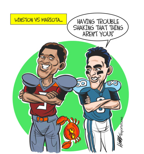 the latest 649c4 540f6 Winston-Mariota: Birth of a Great QB Rivalry? - Smack Apparel