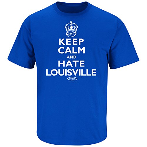Smack Apparel Kentucky Fans. Keep Calm and Hate Louisville Blue T-Shirt (S-5X)