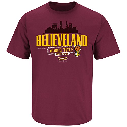 Cleveland Cavaliers Fans. Believeland Maroon T Shirt (Sm-3X) SHIPS SAME DAY