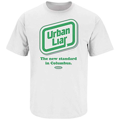 Smack Apparel Michigan State Football Fans. Urban Liar White T-Shirt (S-5X)