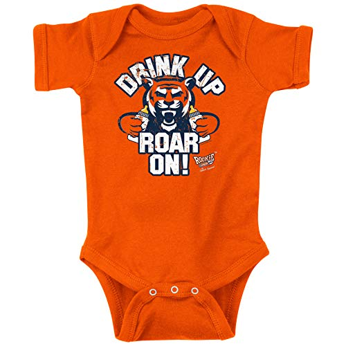 Rookie Wear by Smack Apparel Auburn Football Fans. Drink Up Roar On! Orange Onesie (NB-18M) or Toddler Tee (2T-4T)