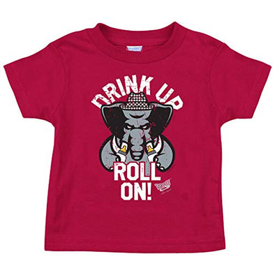 Alabama Football Fans. Drink Up Roll On! Baby Onesie or Toddler T-Shirt