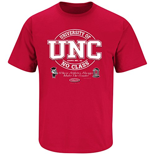 Smack Apparel North Carolina State Football Fans. University of No Class Red T-shirt (SM-5X)