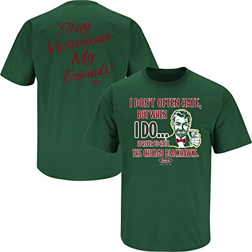 Smack Apparel Minnesota Hockey Fans. Stay Victorious (Anti-Chicago) Green T-Shirt (S-5X)