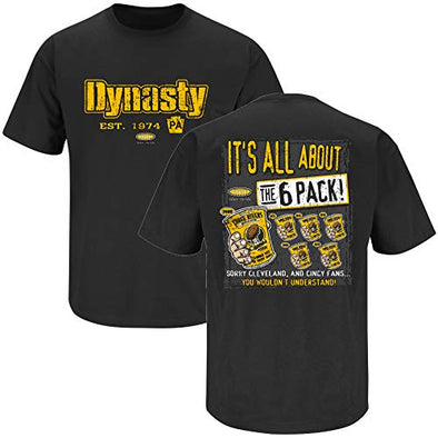 Pittsburgh Pro Football Apparel | Shop Unlicensed Pittsburgh Gear | Dynasty 6-Pack Shirt