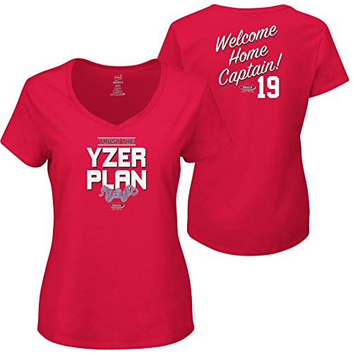 Smack Apparel Detroit Hockey Fans. Trust The Yzerplan Red Ladies Shirt (Xs-2x)