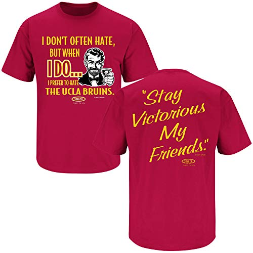 Anti- Michigan Red T-Shirt Smack Apparel Ohio State Football Fans Sm-5X Stay Victorious I Dont Often Hate