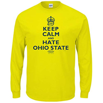Michigan College Sports Apparel | Shop Unlicensed Michigan Gear | Keep Calm and Hate Ohio State Shirt