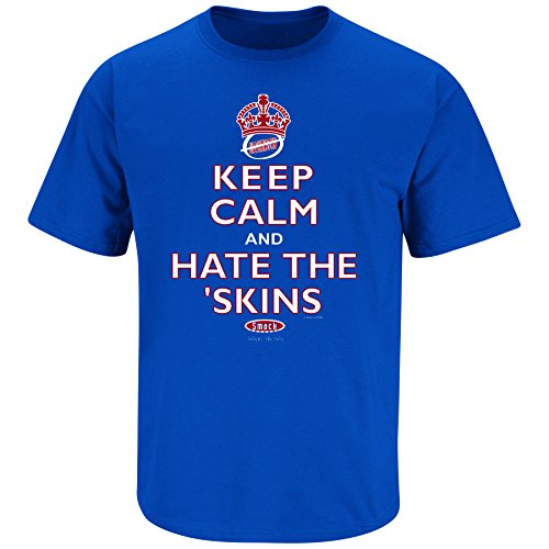 New York (NYG) Pro Football Apparel | Shop Unlicensed New York (NYG) Gear | Keep Calm and Hate the Redskins Shirt