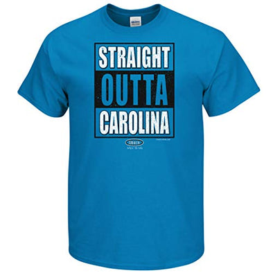 Carolina Pro Football Fans. Straight Outta Carolina T-Shirt