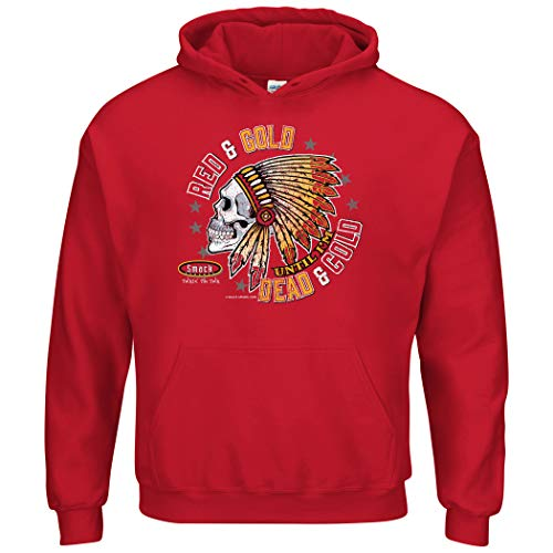 Kansas City Football Fans. Red and Gold Till I'm Dead and Cold Shirt, Tank Top, Hoodie