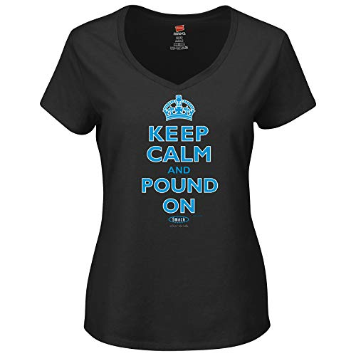 Carolina Pro Football Unlicensed Ladies Apparel | Keep Calm and Pound On Ladies Shirt