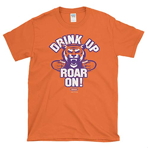 Smack Apparel Clemson Football Fans. Drink Up Roar On! Orange Soft Style T-Shirt (Sm-5x)