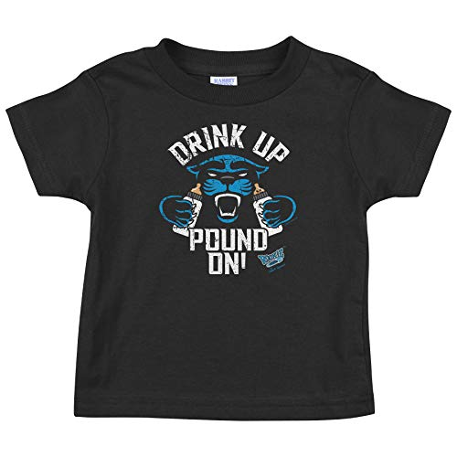 Carolina Football Fans. Drink Up Pound On Black Onesie or Toddler Tee (NB-4T)