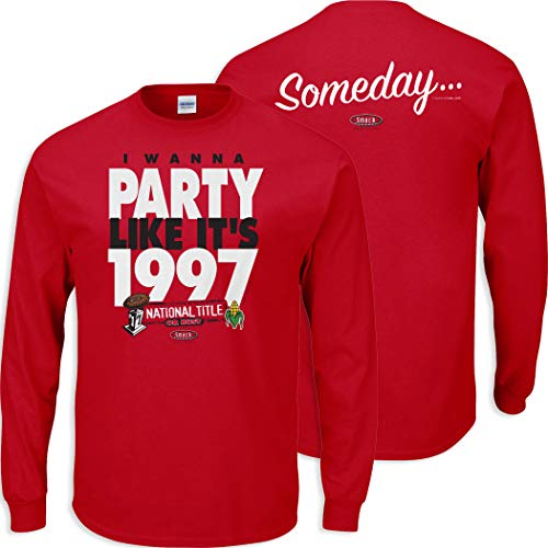 Smack Apparel Nebraska Football Fans. I Wanna Party Like It's 1997. Red T-Shirt (Sm-5X)