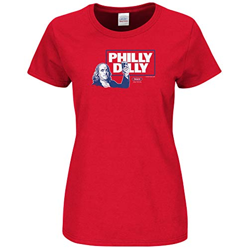 Philadelphia Pro Baseball Unlicensed Ladies Apparel | Philly Dilly Ladies Shirt