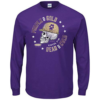 Washington Football Fans Shirt | Purple and Gold Til I'm Dead and Cold | Buy Gear for Washington Fans
