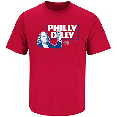 Smack Apparel Philadelphia Baseball Fans. Philly Dilly. Red T-Shirt (Sm-5X)
