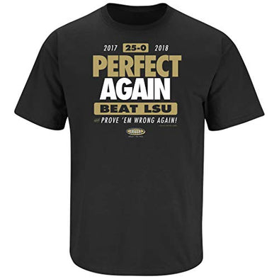 Central Florida Football Fans. Perfect Again. Beat LSU Black T-Shirt (Sm-5X)