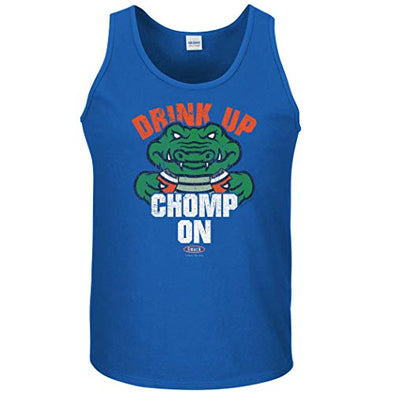 Smack Apparel Florida Football Fans. Drink Up Chomp On. Royal T-Shirt (Sm-5X)