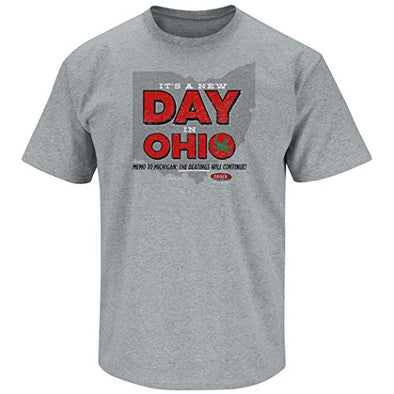 Ohio State College Apparel | Shop Unlicensed Ohio State Gear | It's a New Day in Ohio Shirt