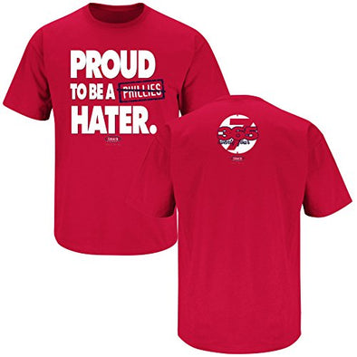 Smack Apparel Washington Baseball Fans. Proud to Be a Hater Red T-Shirt (S-5X)