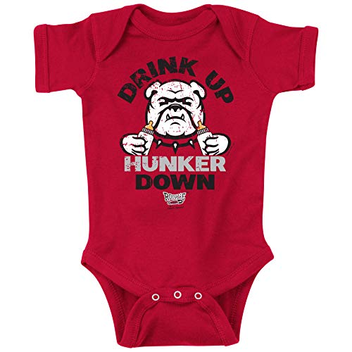 Georgia Football Fans. Drink Up Hunker Down Baby Onesie or Toddler T-Shirt