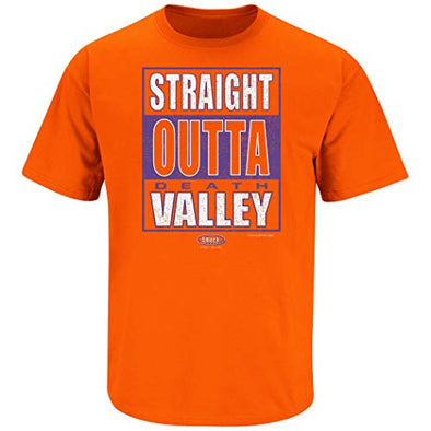 Smack Apparel Clemson Football Fans. Straight Outta Death Valley. Orange T Shirt (Sm-5X)