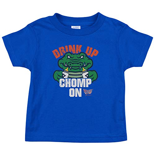 Unlicensed Florida Fan Apparel | Baby Bodysuits or Toddler Tees | Drink Up Chomp On