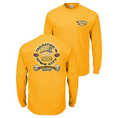 Smack Apparel Iowa Football Fans. Tailgating in Iowa City. Gold T-Shirt (Sm-5X)