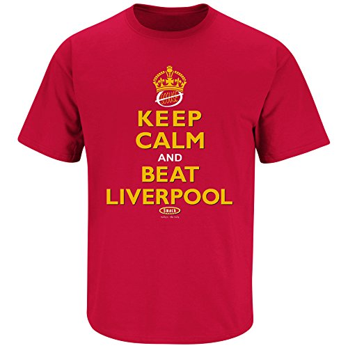 Manchester United Fans. Keep Calm and Beat Liverpool Red T Shirt (Sm-5X)