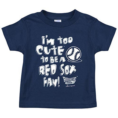 New York Baseball Fans. I'm Too Cute Onesie (NB-18M) or Toddler Tee (2T-4T) (Rookie Wear by Smack Apparel)