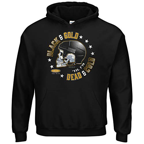Pittsburgh Hockey Fans. Black and Gold 'Till I'm Dead and Cold. Black T-Shirt (Sm-5X)