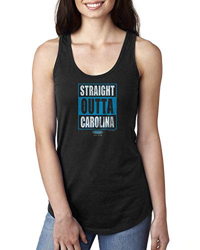 Carolina Pro Football Unlicensed Ladies Apparel | Straight Outta Carolina Ladies Shirt