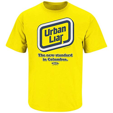 Smack Apparel Michigan Football Fans. Urban Liar Maize T-Shirt (Sm-5X)