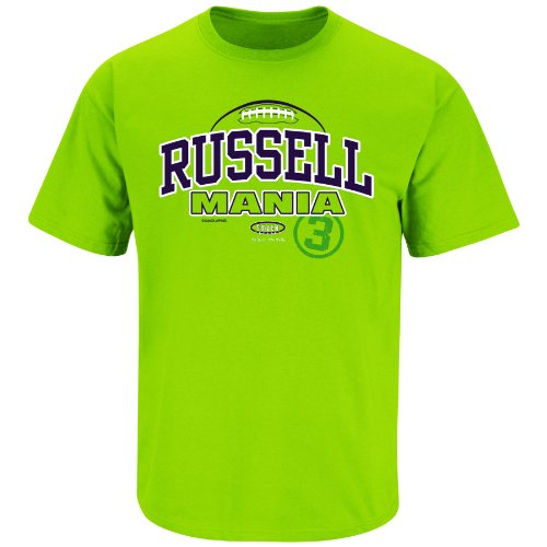 Seattle Seahawks Fans. RussellMania Lime Green T-Shirt (S-3X)