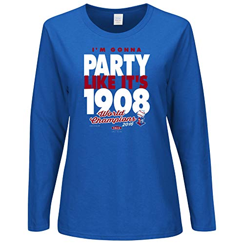 Smack Apparel Chicago Baseball Fans. I'm Gonna Party Like It's 1908 Championship Ladies Shirt (Sm-2x)