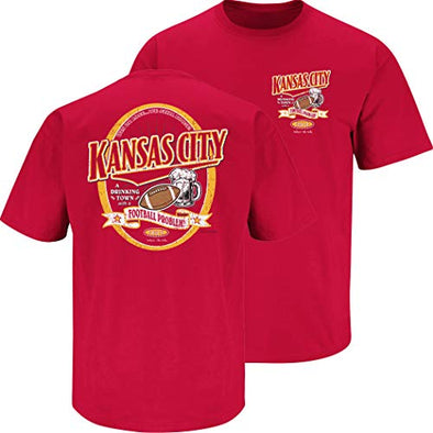 Kansas City Football Fans. Kansas City A Drinking Town with A Football Problem Shirt