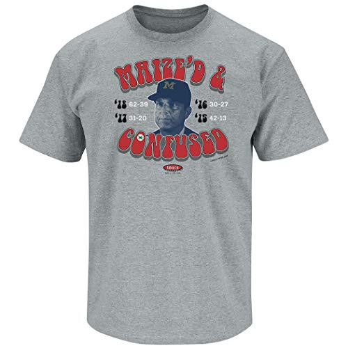 Ohio State Football Fans | Maize'd & Confused Shirt | Funny Unlicensed Ohio State Shirt