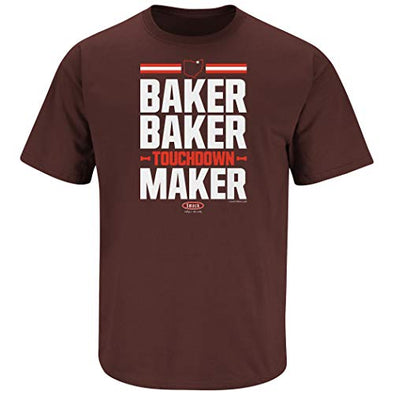 Cleveland Pro Football Apparel | Shop Unlicensed Cleveland Gear | Baker Baker Touchdown Maker Shirt