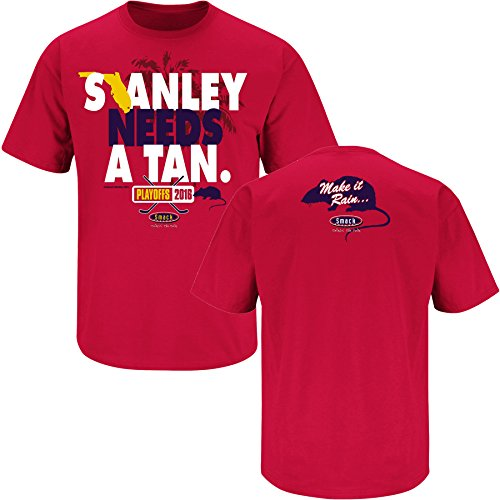 Florida Panthers Fans. Stanley Needs A Tan. Red T Shirt (Sm-5X)