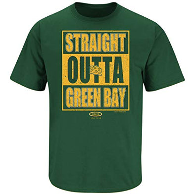Green Bay Pro Football Apparel | Shop Unlicensed Green Bay Gear | Straight Outta Green Bay Shirt
