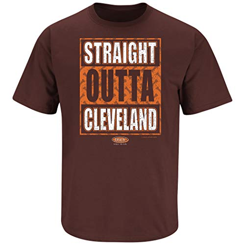 Orange T-Shirt Cleveland a Drinking Town with a Football Problem Sm-5X Smack Apparel Cleveland Football Fans